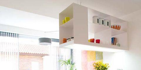 Room, Interior design, Table, Furniture, Floor, Home, Wall, Interior design, Orange, Flooring,