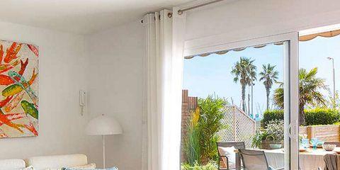 Interior design, Room, Furniture, Table, Floor, Interior design, Flooring, Real estate, Ceiling, Home,