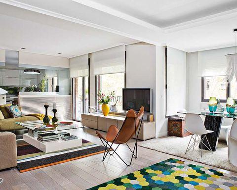 Interior design, Floor, Room, Green, Flooring, Property, Home, Ceiling, Living room, Wall,