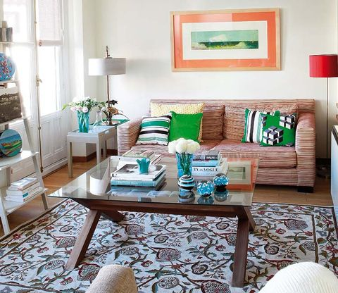 Room, Interior design, Green, Wood, Home, Living room, Furniture, Teal, Turquoise, Flooring,