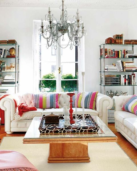 Room, Interior design, Living room, Green, Home, Furniture, White, Shelf, Shelving, Table,
