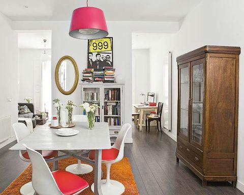 Wood, Room, Interior design, Floor, Table, Flooring, Furniture, Ceiling, Hardwood, Light fixture,