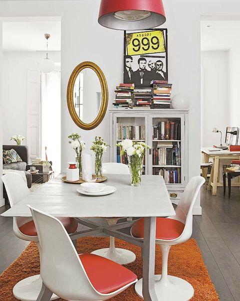 Room, Interior design, Table, Furniture, Floor, Flooring, Interior design, Chair, Design, Mirror,