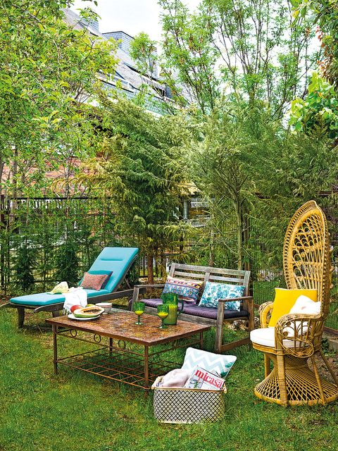 Tree, Furniture, Nature reserve, Table, Yard, Botany, Backyard, Garden, Outdoor furniture, Grass family,