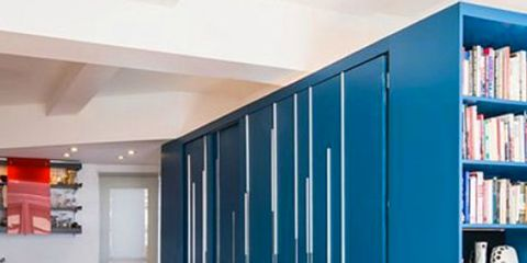 Floor, Room, Flooring, Interior design, Shelf, Wall, Shelving, Ceiling, Cupboard, Wood flooring,