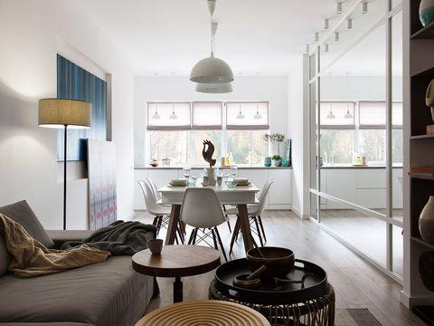 Room, Interior design, Green, Floor, Furniture, Wall, Ceiling, Home, Flooring, Interior design,
