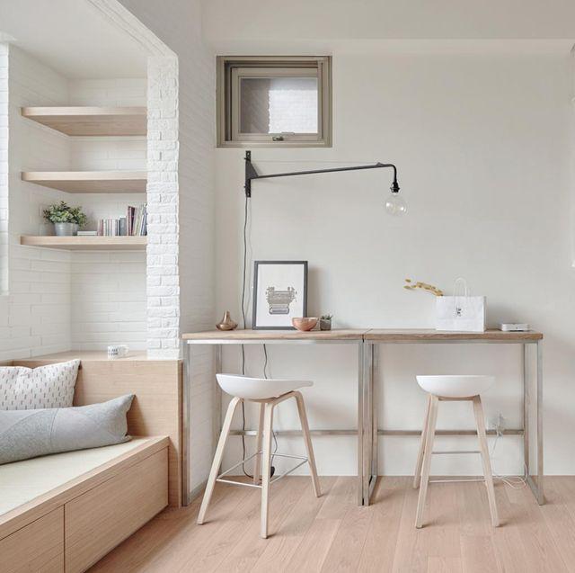 apartamento de 22 metros salón con escritorio