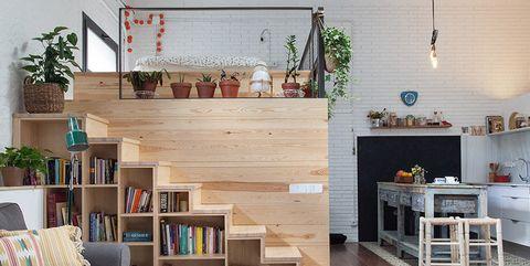 Shelf, Living room, Shelving, Room, Interior design, Furniture, Floor, Wall, Property, Building,