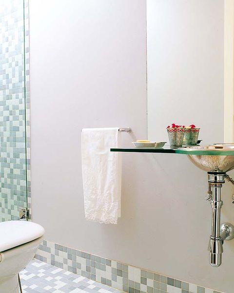 Room, Plumbing fixture, Interior design, Property, Wall, Tile, Floor, Flooring, Bathroom accessory, Interior design,