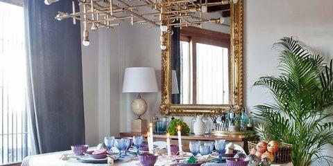 Interior design, Tablecloth, Room, Floor, Textile, Flooring, Table, Furniture, Linens, Interior design,