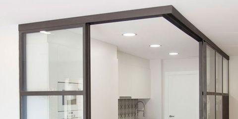 Floor, Architecture, Flooring, Property, Glass, Wall, Interior design, Real estate, Fixture, Grey,