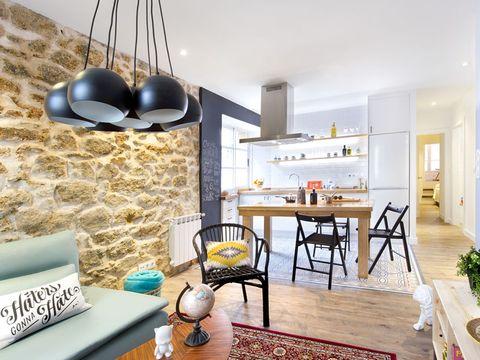 Wood, Room, Interior design, Floor, Flooring, Home, Table, Wall, Furniture, Living room,