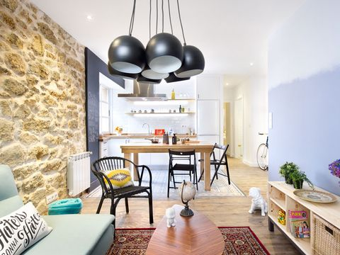 Room, Floor, Interior design, Flooring, Table, Home, Wall, Furniture, Ceiling, Light fixture,