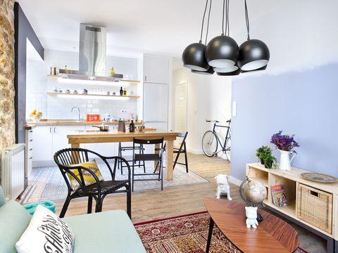 Wood, Room, Interior design, Floor, Table, Furniture, Flooring, White, Home, Wall,