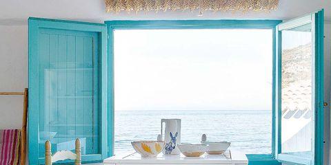Wood, Blue, Room, Interior design, Turquoise, Teal, Furniture, Table, Aqua, Floor,