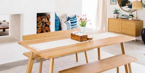 Furniture, Table, Room, Coffee table, Dining room, Interior design, Chair, Desk, Wood, Bench,
