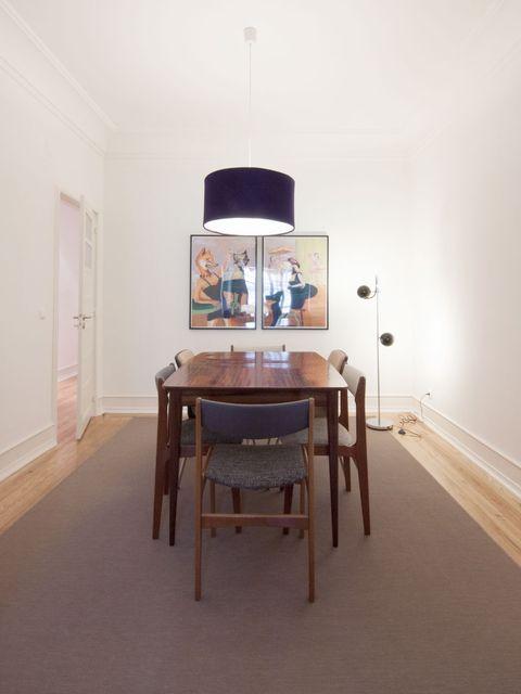 Wood, Room, Table, Floor, Flooring, Interior design, Hardwood, Wood stain, Lamp, Light fixture,