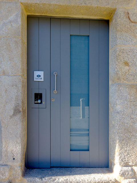 Blue, Door, Wall, Architecture, House, Concrete,