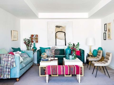 Room, Interior design, Green, Living room, Home, Furniture, Wall, Teal, Interior design, Turquoise,