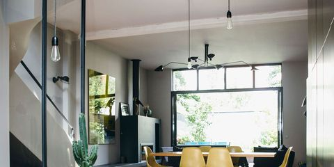 Floor, Interior design, Lighting, Room, Flooring, Table, Ceiling, Glass, Furniture, Interior design,