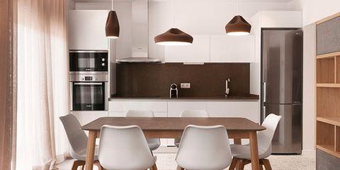 Wood, Room, Floor, Interior design, Flooring, Furniture, Table, Hardwood, Ceiling, Light fixture,