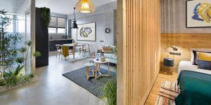 Apartamento 46 m: Dormitorio y salón
