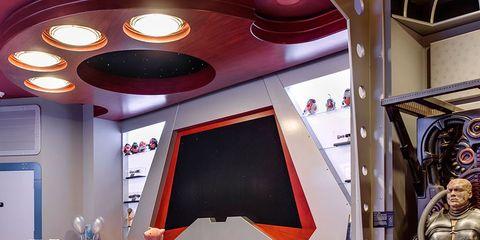 Interior design, Room, Floor, Ceiling, Interior design, Carpet, Hall, Light fixture, Decoration, Armour,