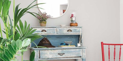 Room, Interior design, Furniture, Interior design, Turquoise, Home, Teal, Drawer, Houseplant, Still life photography,