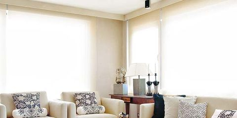Room, Interior design, Living room, Floor, Furniture, Wall, Table, White, Couch, Home,