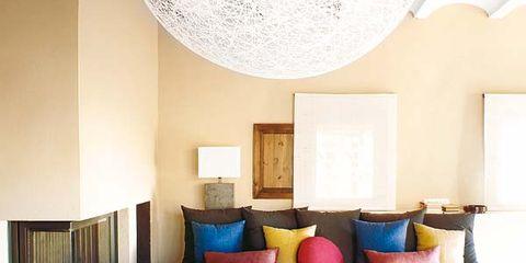 Blue, Interior design, Room, Flowerpot, Wall, Interior design, Furniture, Floor, Majorelle blue, Living room,