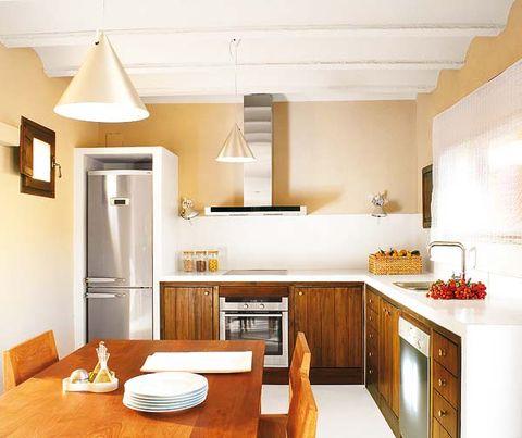 Wood, Room, Interior design, Furniture, Table, Home, Ceiling, Floor, Interior design, Light fixture,