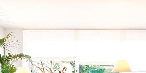Room, Interior design, Table, Furniture, Living room, Home, Wall, Interior design, Lamp, Orange,