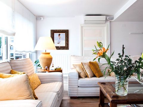 Room, Interior design, Yellow, Home, Wall, Living room, Furniture, Interior design, House, Table,