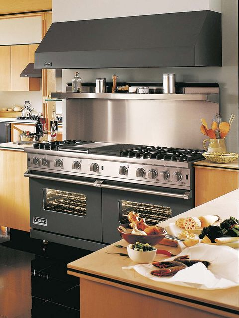 Kitchen, Room, Kitchen stove, Countertop, Furniture, Cabinetry, Property, Kitchen appliance, Major appliance, Gas stove,