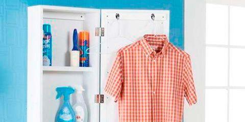 Blue, Dress shirt, Collar, Sleeve, Turquoise, Aqua, Wall, Teal, Telephone, Clothes hanger,