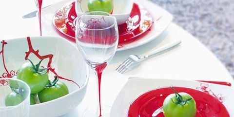 Green, Dishware, Serveware, Glass, Stemware, Tableware, Food, Wine glass, Produce, Drinkware,