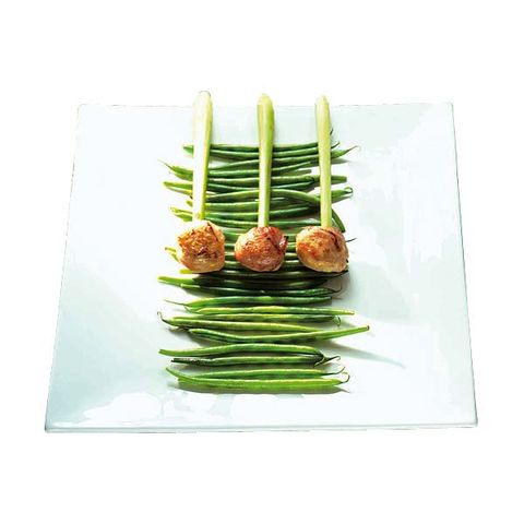 Dishware, Food, Ingredient, Produce, Finger food, Tableware, Asparagus, Plate, Dish, Cuisine,