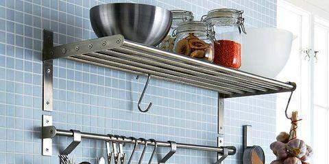 Product, Kitchen appliance accessory, Kitchen, Kitchen appliance, Kitchen utensil, Shelving, Small appliance, Paper, Aluminium, Plumbing fixture,