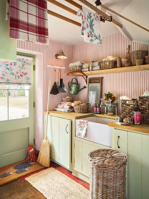 cocina de campo con estilo country
