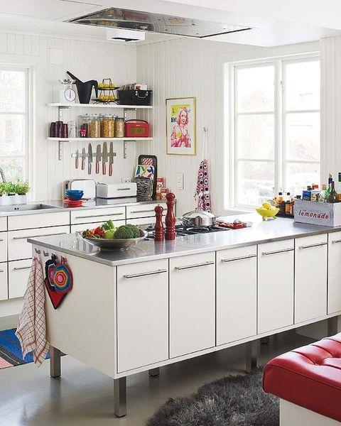 Room, Interior design, Floor, Ceiling, Home, Interior design, Kitchen, Fixture, Cabinetry, Countertop,