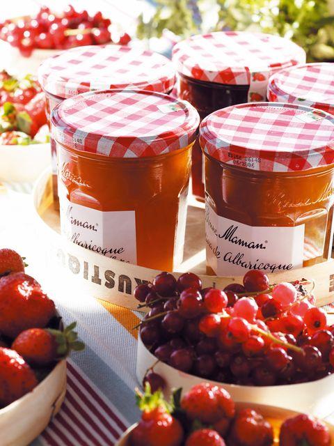 Food, Produce, Natural foods, Local food, Ingredient, Fruit, Fruit preserve, Preserved food, Mason jar, Food storage containers,