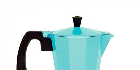 Blue, Turquoise, Aqua, Teal, Moka pot, Drinkware, Azure, Coffee percolator, Serveware, Kitchen appliance,