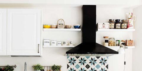 Room, White, Interior design, Kitchen, Drawer, Home, Cabinetry, Major appliance, Grey, Kitchen appliance,
