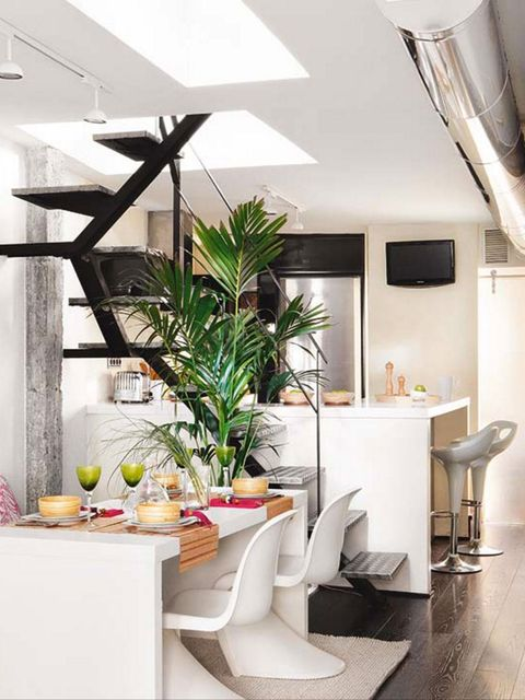 30 ideas para abrir la cocina al sal n espacios integrados for Separacion de muebles cocina comedor