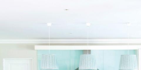 Wood, Room, Floor, Interior design, Table, Ceiling, Furniture, Flooring, Teal, Light fixture,