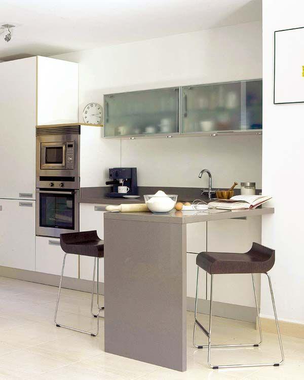 12 Cocinas Con Barra Y Sus Planos - Cocinas-modernas-con-barra-americana