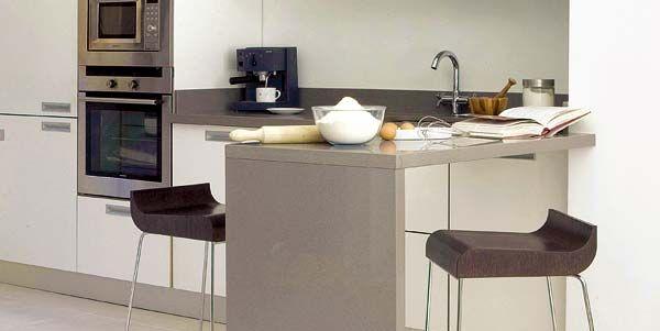 12 cocinas con barra y sus planos for Modelo de cocina con barra