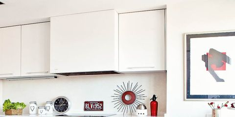 Room, Red, Wall, Interior design, Cabinetry, Linens, Drawer, Cupboard, Chest of drawers, Paint,