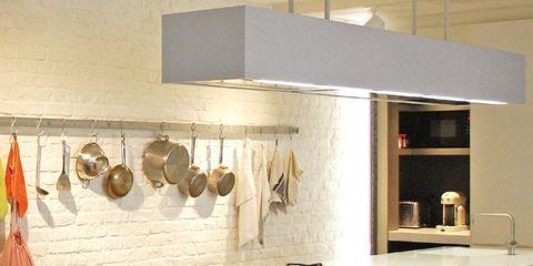 Room, Floor, Interior design, Flooring, Light fixture, Countertop, Interior design, House, Grey, Kitchen,