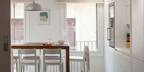 Floor, Flooring, Room, Interior design, Table, Ceiling, Wall, Light fixture, Fixture, Ceiling fixture,